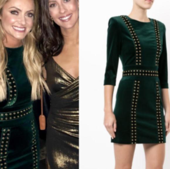 9ea2ce8d Pierre Balmain Dresses | Sold Out Dark Green Velvet Dress | Poshmark